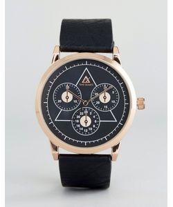 Asos | Часы С Контрастным Черным Циферблатом И Хронографом