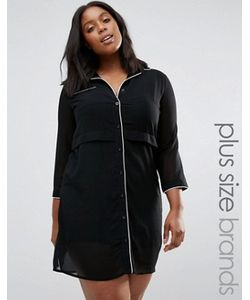 Praslin | Платье-Рубашка С Контрастным Кантом Plus