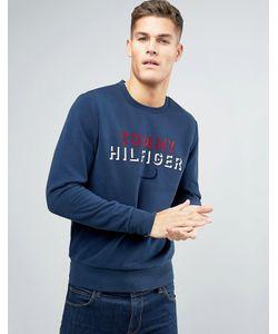 Tommy Hilfiger | Свитшот С Круглым Вырезом И Флоковым Логотипом