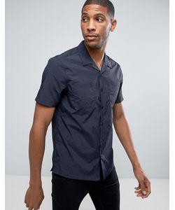 Asos | Темно-Синяя Рубашка Классического Кроя Из Технической Ткани