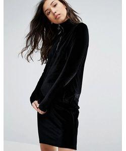 Minimum | Бархатное Платье С Молнией