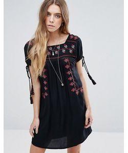 Glamorous | Свободное Платье С Вышивкой