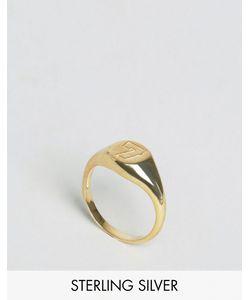 Asos | Кольцо Из Позолоченного Серебра С Цифрой 7