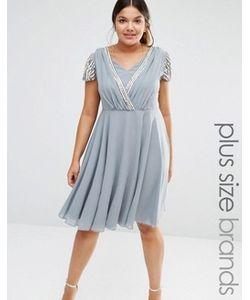 Lovedrobe Luxe | Платье Миди С Запахом И Короткими Рукавами