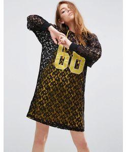 Asos | Кружевное Платье С Капюшоном И Контрастной Подкладкой