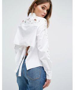 BLANKNYC | Рубашка С Вышивкой И Открытой Спиной