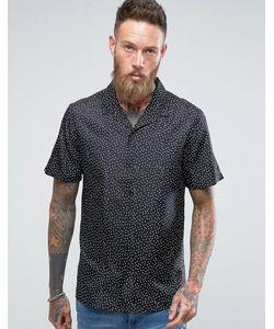Asos | Шелковая Рубашка В Горошек Классического Кроя