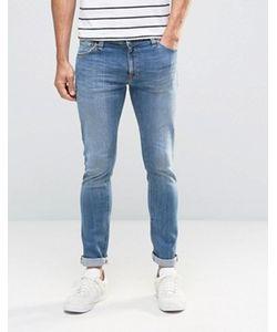 Nudie Jeans Co | Супероблегающие Джинсы Цвета Индиго Nudie Skinny Lin