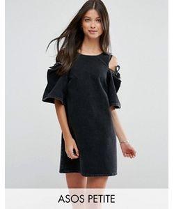 ASOS PETITE | Джинсовое Цельнокройное Платье С Бантом