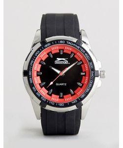 Slazenger   Черно-Красные Часы С Силиконовым Ремешком