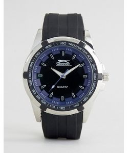 Slazenger   Черные Часы С Синими Указателями Времени