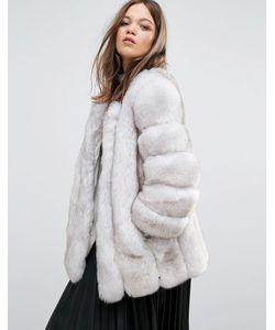 Jayley | Куртка Из Искусственного Меха С Полосатой Отделкой Luxurious