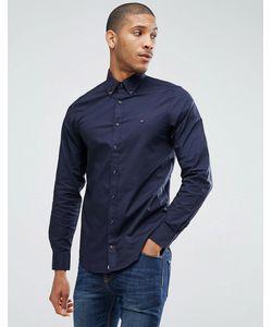 Tommy Hilfiger | Синяя Эластичная Оксфордская Рубашка