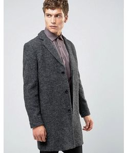 Selected Homme | Темно-Серое Пальто Из Ткани Букле