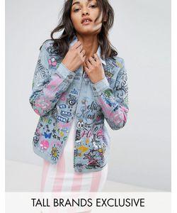 Glamorous Tall   Джинсовая Куртка С Принтом