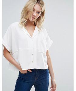d.Ra   Свободная Рубашка С Короткими Рукавами Aline