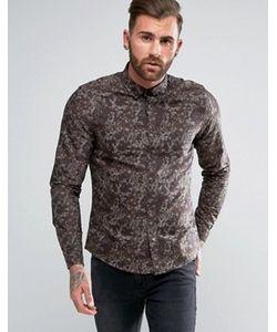 Asos | Рубашка Стандартного Кроя С Камуфляжным Принтом