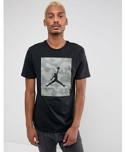 Jordan | Черная Футболка С Камуфляжным Принтом Nike 925809-010