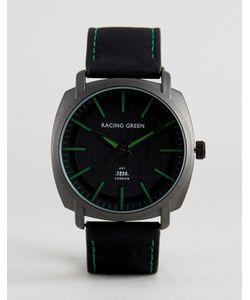 Racing Green | Черные Часы С Зеленой Разметкой