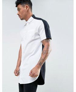 Asos | Черно Длинная Рубашка Классического Кроя