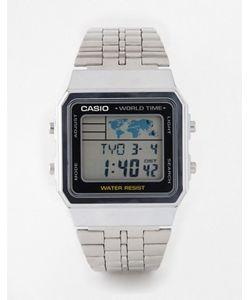 Casio | Многофункциональные Серебристые Часы A500wea-1ef