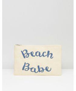 South Beach | Соломенный Клатч С Вышивкой Beach Babe