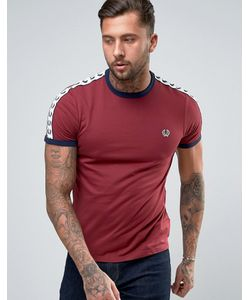 Fred Perry | Темно-Бордовая Футболка Sports Authentic