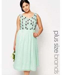 Lovedrobe Luxe | Платье Миди Для Выпускного С Отделкой На Лифе