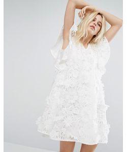 J.O.A | Кружевное Свободное Платье