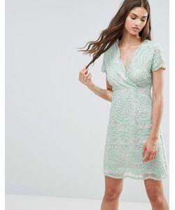 Darling   Кружевное Цельнокройное Платье С Короткими Рукавами