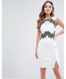 Lipsy | Платье-Футляр С Цветочной Отделкой