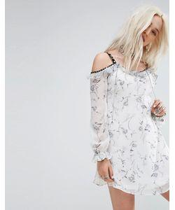 Glamorous   Платье С Открытыми Плечами И Оборками