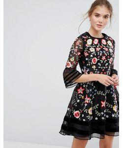 Frock and Frill | Платье Мини С Вышивкой Premium