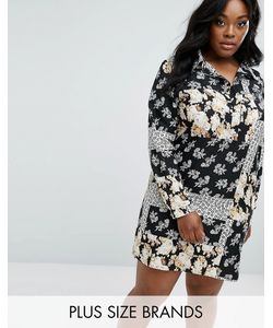 Boohoo Plus | Платье-Рубашка В Стиле Пэтчворк