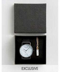 Reclaimed Vintage | Подарочный Набор С Часами И Мраморной Подвеской