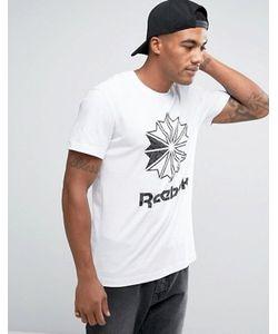 Reebok | Классическая Белая Футболка С Большим Принтом Bk4177