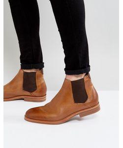 Hudson London   Светло-Коричневые Кожаные Ботинки Челси