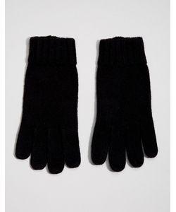 DENTS | Полушерстяные Перчатки С Кожаной Вставкой На Ладонях