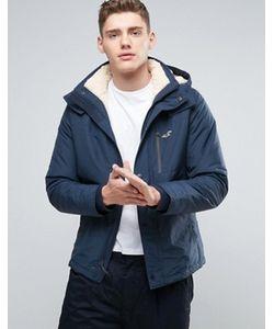Hollister | Куртка На Меховой Подкладке С Капюшоном