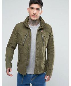 Schott | Куртка В Стиле Милитари Цвета Со Складывающимся Капюшоном Squad