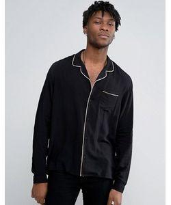 Asos | Рубашка Классического Кроя Из Вискозы В Пижамном Стиле С Отложным Воротником