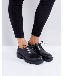 Vagabond | Черные Кожаные Туфли На Шнуровке Kenova