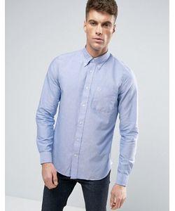 Fred Perry | Синяя Узкая Оксфордская Рубашка На Пуговицах