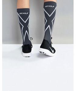 2XU   Черные Носки С Компрессионным Эффектом Performance Run Ma4153e