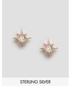 Asos | Серьги Из Позолоченного Серебра Star Burst