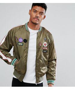Diesel   Атласная Куртка С Нашивками