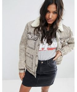 Asos | Джинсовая Куртка На Меховой Подкладке