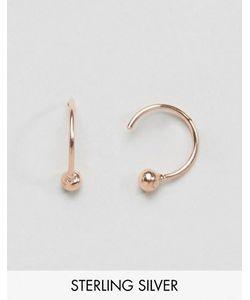 Asos | Серебряные Позолоченные Серьги 10 Мм