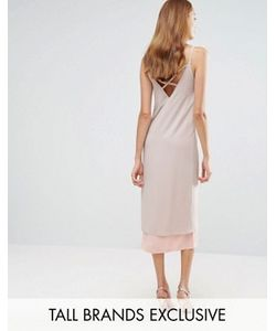 Alter Tall | Платье-Комбинация В Стиле Колор Блок С Отделкой Сзади