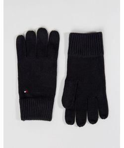 Tommy Hilfiger | Черные Перчатки Из Смесового Кашемира